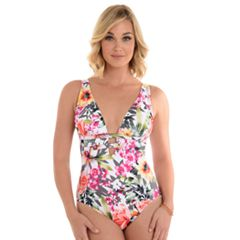 Women's Upstream Bust Minimizer Floral One-Piece Swimsuit