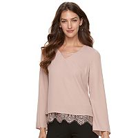 Women's Apt. 9® Lace-Hem Popover Top