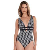 Women's Upstream Bust Minimizer Geometric One-Piece Swimsuit
