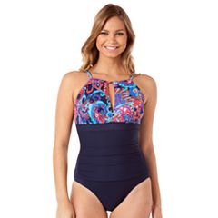 Women's Upstream Waist Minimizer Paisley One-Piece Swimsuit