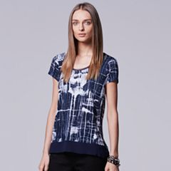Petite Simply Vera Vera Wang High-Low Embellished Tee