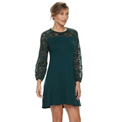 Petite Apt. 9® Lace Yoke A-Line Dress
