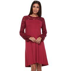 Women's Apt. 9® Lace Yoke A-Line Dress