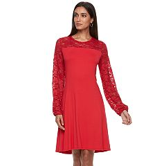 Women's Apt. 9® Lace Yoke A-Line Dress