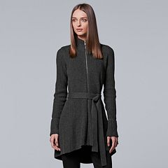 Petite Simply Vera Vera Wang Long Zip-Front Jacket