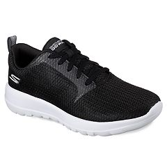 Skechers GOwalk Joy Paradise Womens Shoes Black White Black
