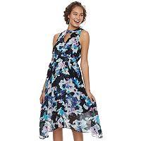 Women's Jennifer Lopez Choker Neck Surplice Dress