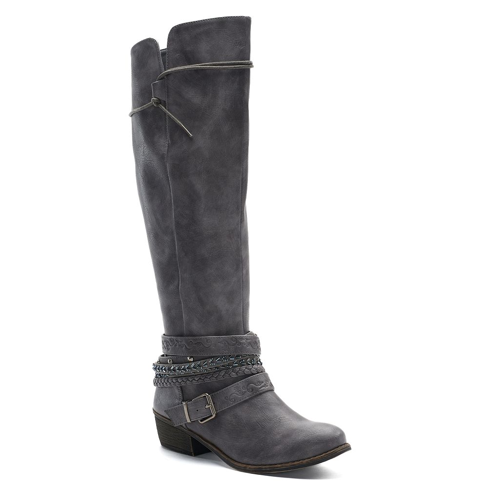 Bathroom scales boots - So Message Women S Knee High Riding Boots