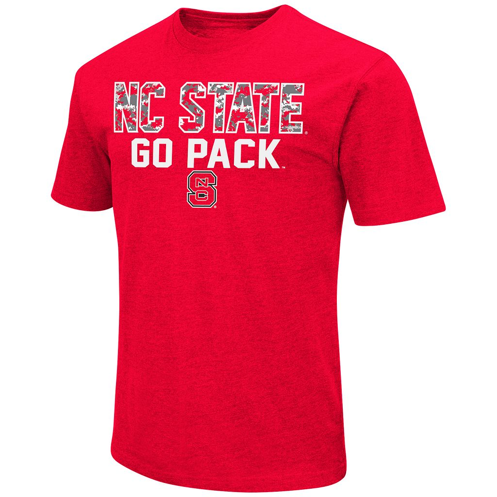 Men's Campus Heritage North Carolina State Wolfpack Camo Wordmark Tee