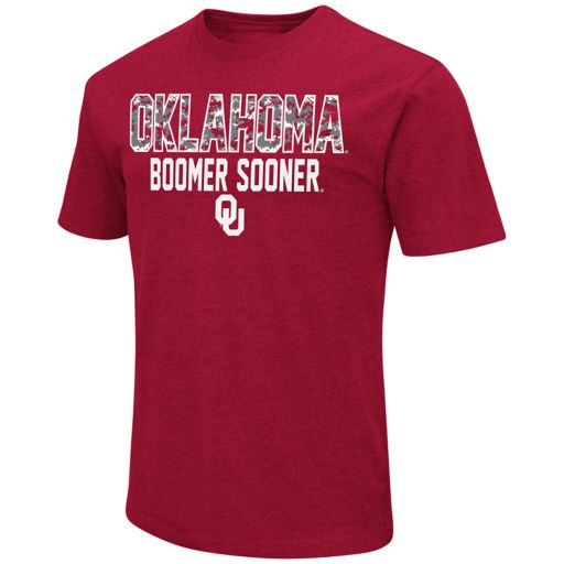 Men's Campus Heritage Oklahoma Sooners Camo Wordmark Tee