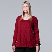 Plus Size Simply Vera Vera Wang Textured Top