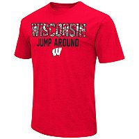 Men's Campus Heritage Wisconsin Badgers Camo Wordmark Tee