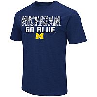 Men's Campus Heritage Michigan Wolverines Camo Wordmark Tee