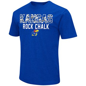 Men's Campus Heritage Kansas Jayhawks Camo Wordmark Tee