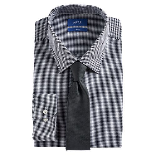 e3503679fb689 Men s Apt. 9® Slim-Fit Stretch Spread-Collar Dress Shirt   Tie Set