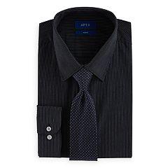 Men's Apt. 9® Slim-Fit Stretch Spread-Collar Dress Shirt & Tie Set