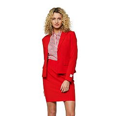 Women's Opposuits Solid Jacket & Skirt Set