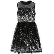 Girls 7-16 & Plus Size Speechless Sequin Illusion Dress