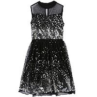 Girls 7-16 & Plus Size Speechless Sequin Illusion Dress