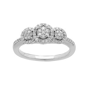 Promise Love Forever Sterling Silver 1/4 Carat T.W. Diamond Engagement Ring