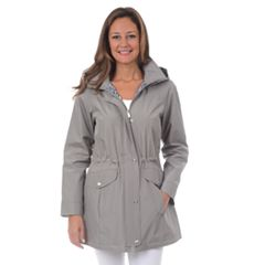 Women's Fleet Street Hooded Long Rain Coat