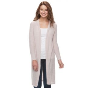 Juniors' About A Girl Cozy Duster Cardigan