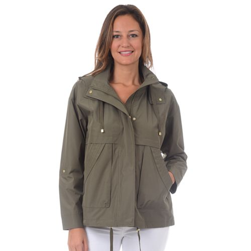 Women's Fleet Street Hooded Short Rain Coat