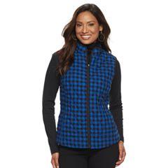 Women's Croft & Barrow® Quilted Plaid Vest