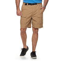 Big & Tall Croft & Barrow® Outdoor Regular-Fit Belted Performance Cargo Shorts