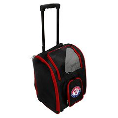 Mojo Texas Rangers Wheeled Pet Carrier
