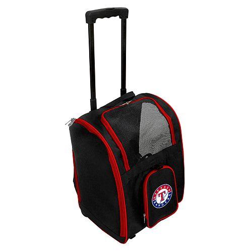 Mojo Texas Rangers Wheeled Pet Carrier