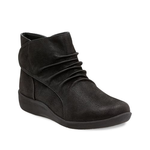 Clarks Sillian Sway Navy Blue Boots
