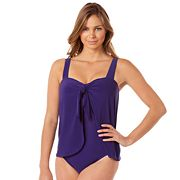 Women's Croft & Barrow® Thigh Minimizer Flyaway One-Piece Swimsuit