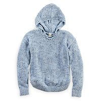 Girls 7-16 & Plus Size Mudd® Lace-Up Chenille Sweater Hoodie