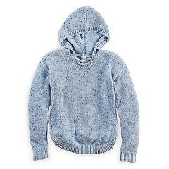 Girls 7-16 & Plus Size Mudd® Lace-Up Chenille Sweater Hoodie