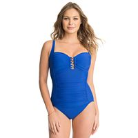 Women's Croft & Barrow® Waist Minimizer Ruched One-Piece Swimsuit