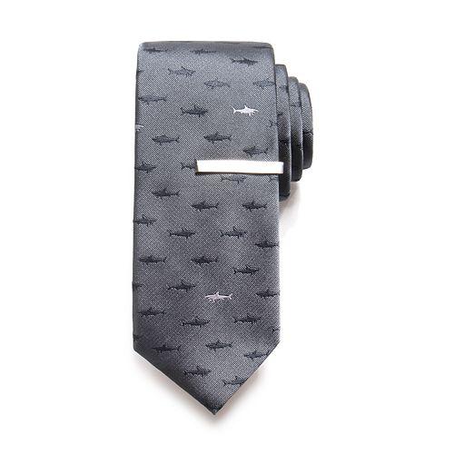 Men's Apt. 9® Shark Tie & Tie Bar Set