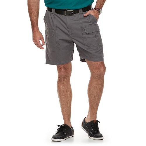 5eab3531a7 Big & Tall Croft & Barrow® Relaxed-Fit Side-Elastic Twill Cargo Shorts