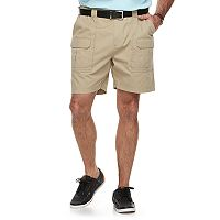 Big & Tall Croft & Barrow® Relaxed-Fit Side-Elastic Twill Cargo Shorts