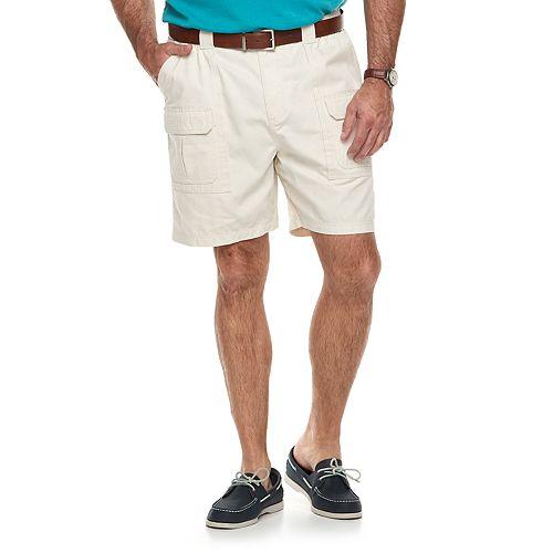 Big & Tall Croft & Barrow® Relaxed-Fit Side-Elastic Twill Cargo Shorts