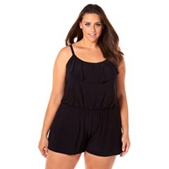 Plus Size Croft & Barrow® Ruffle Romper