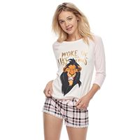 Disney's The Lion King Juniors' Pajamas: Top & Boxer Shorts PJ Set