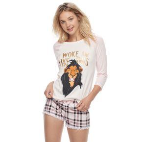 Disney's The Lion King Juniors' Pajamas: Top & Boxer Shorts PJ Set