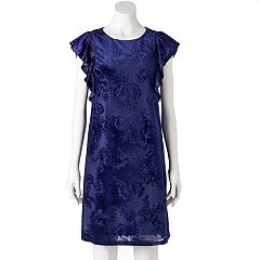 Women's Apt. 9® Velvet Jacquard Shift Dress