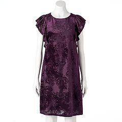 Women's Apt. 9® Velvet Jacquard Shift Dress