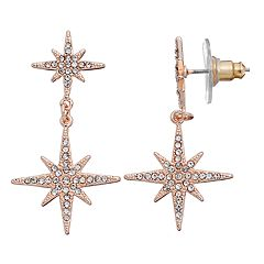 LC Lauren Conrad Runway Collection Starburst Double Drop Earrings