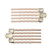 LC Lauren Conrad Runway Collection Simulated Opal Teardrop Hair Comb Set