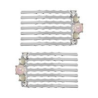 LC Lauren Conrad Runway Collection Simulated Opal Hair Comb Set