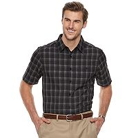 Big & Tall Haggar Regular-Fit Microfiber Woven Button-Down Shirt