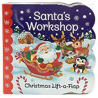 Santa's Workshop Lift a Flap Board Book by Cottage Door Press